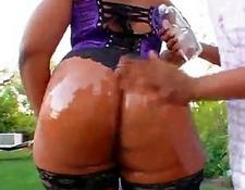Flame Oiled Up MILF ass
