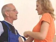 Janitor mature stud and teen chick