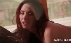 Redhead sweety gets fuck hole pleased to climax