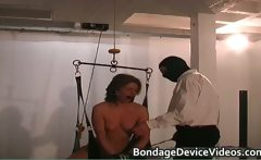 Clamped Nipples and Penetrated pussy