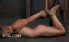 sleazy Babe Bound and Spread
