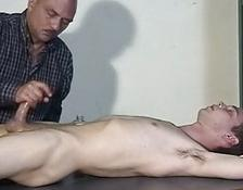 A lover is sleeping while his fellow jerking his schlong