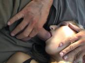 woman poked while sleeping outdoors