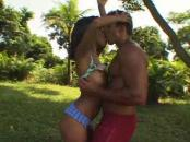 pretty boxing lady fucking outdoors