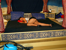 Sleeping valet stretched