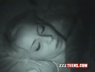 Sleeping young vagina dildoed deeply