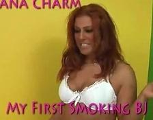 Hot redhead mature smoking bj
