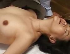 Milf in panty fingered giving oral sex on the floor