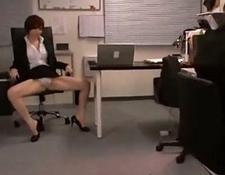 Office girl showing off her panty jerking man dick rubbing w
