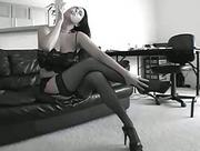 beautiful Lingerie Model is A Hot Fetish Smoking Babe