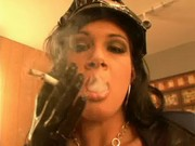 Tory Lane and Lindsay Mallory Smoking whi .