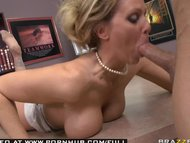 monstrous TIT BLOND PORNSTAR MIF JULIA ANN WEARS VIBRATING PANTIES.