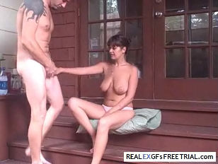 lovers Get Busy on the Stoop