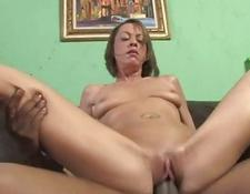 hot mom gets slammed in the behind in front of her son