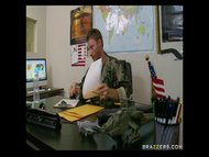 gigantic Titted Blond MILF Holly Halston fucks a Sergeant for her son's sake