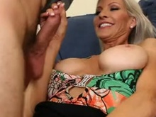 Emma Starr teases and swallows her sons friends Juvenile 10-pounder