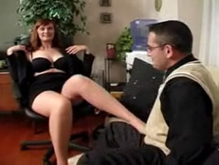 Boss in Pantyhose Gets What She Wants.