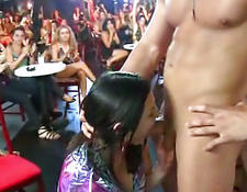 Party babes swallowing