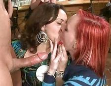 Babes give head at dirty hot party