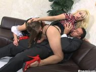 Home orgy with nasty maid