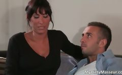dirty brunette MILF Lezley Zen