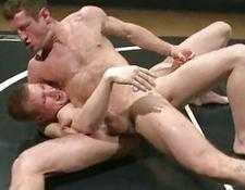 Naked gay twinks in slutty wrestling match