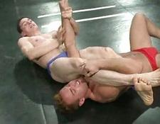 Gay wrestling match decides who will gets his behind screwed