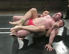 Strong gay boys wrestling hard and rough