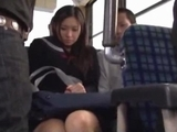 Schoolgirl Getting Her boobs Rubbed Squirting While Fingered By males On The Bus by japlez