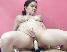 Mariah fucking lesbian Kathy with her strapon