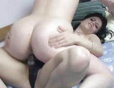 blondy Veronica fucking a MILF with her strapon