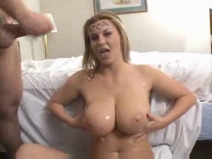 Hot attractive oiled Sara Stone gets hammered.