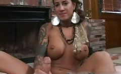Round bigtits tattooed  fireplace