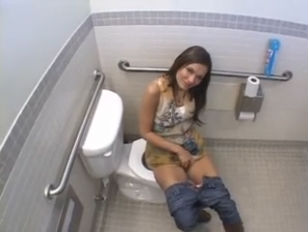 Crissy Moon Gets it In the Bathroom