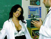 Hot milf teacher gets poked by her student