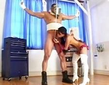 Thai brunette dominatrix loves to play with hard pecker