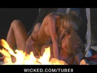 massive TIT blondy PORNSTAR rides OUTDOORS WHILE CAMPING