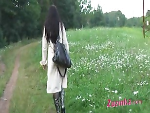 Zuzinka open legs outdoor