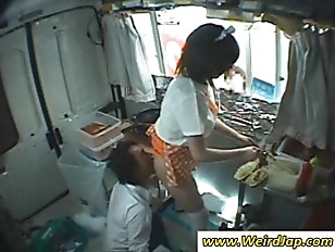 chinese worker gets slit licked upskirt.
