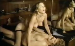 Hardcore vintage sex action with hot brunette getting boned and sucking