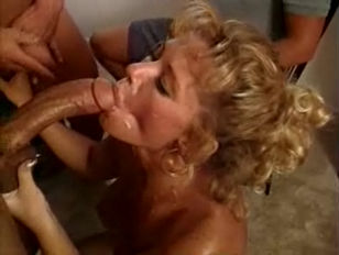 Johnni black - blonde MILF in a three.