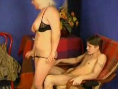 mature mom spanks him and then fucsk him