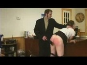 Office lady receives a spanking