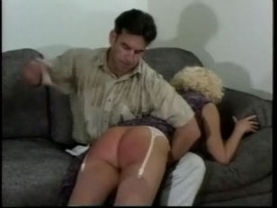 yellow-haired gets spanking