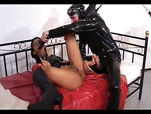 Hot ebony gets sexed by her master