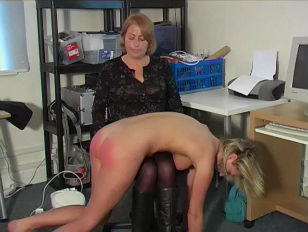 blondy being stripped and spanked