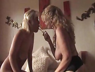 Milf rides young chick