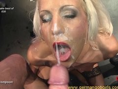 beautiful brunettes and blondes pleased schlongs and got spunked