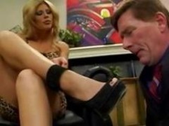 Brooklyn Lee lets this slave play with her lovely feet