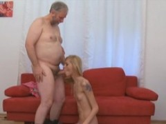 Lola is the  happy little thing, and she becomes even happier when that mature fellow manages to have in her knickers